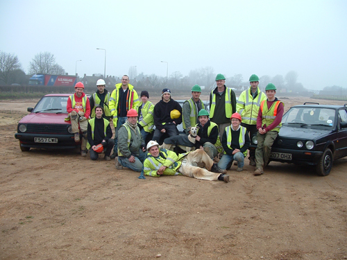 Some of the digging team at Melton